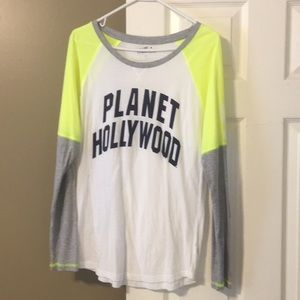 Womens Planet Hollywood long sleeve tee.